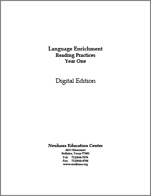 Language Enrichment Reading Practices Year One (Digital Edition)