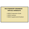 Multisensory Grammar Virtual Handouts